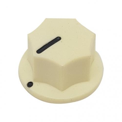Fluted Knob 20mm Cream
