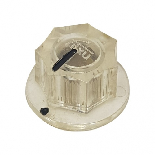 Fluted Knob 20mm Clear