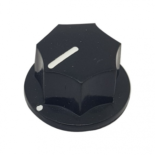 Fluted Knob 20mm Black