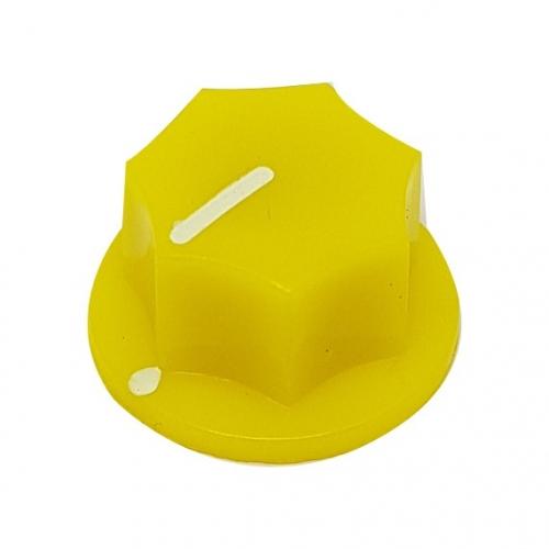 Fluted Knob 20mm Yellow