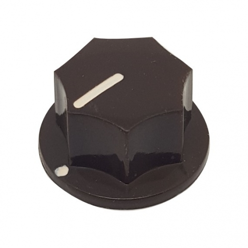 Fluted Knob 20mm Brown