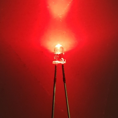 LED Red Clear Ultra Bright 3mm