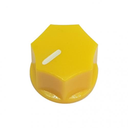 Mini Fluted Knob 15mm Yellow
