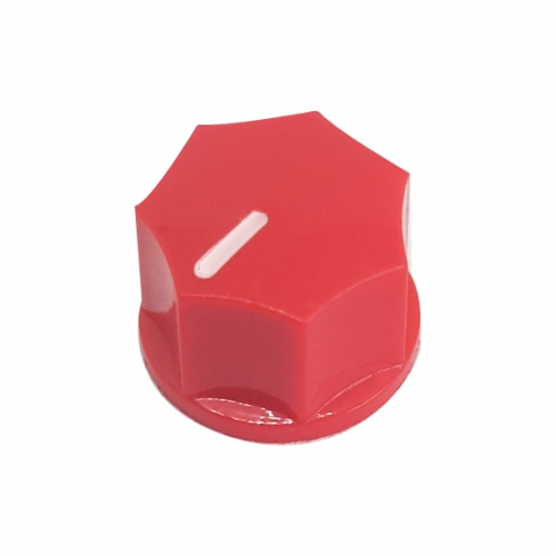 Mini Fluted Knob 15mm Red