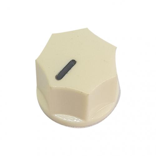 Mini Fluted Knob 15mm Cream