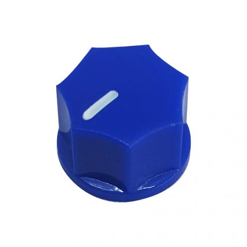 Mini Fluted Knob 15mm Blue