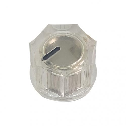 Mini Fluted Knob 15mm Clear