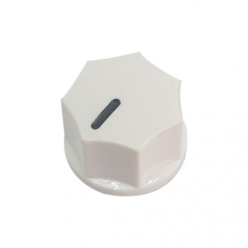 Mini Fluted Knob 15mm White